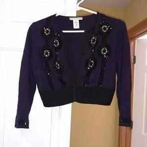 Nanette Lepore Purple Cardigan (ASO Blair Waldorf)